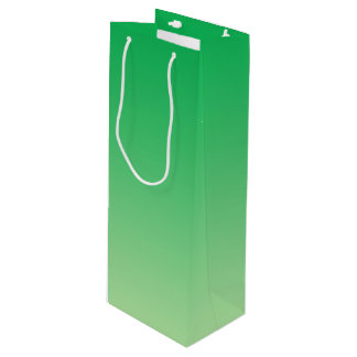 Green Ombre Wine Gift Bag