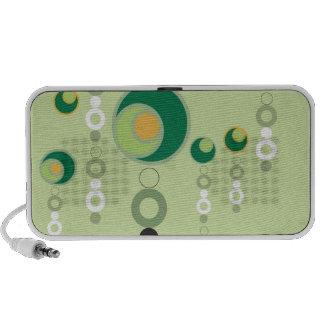 Green & Orange Bubble Blossoms Mp3 Speakers