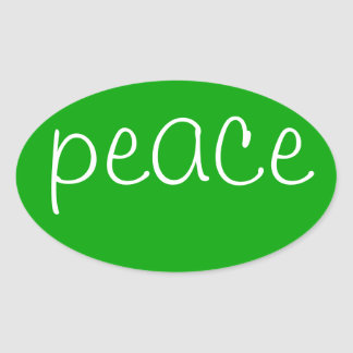 Green Oval Peace stickers