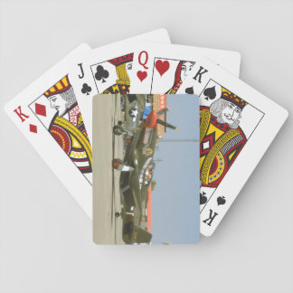 Green P51 Mustang, Left Side_WWII Planes Playing Cards