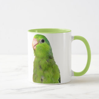 Green Pacific Parrotlet Bird 11 oz ringer cup mug