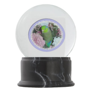 Green Parrotlet Snow Globe