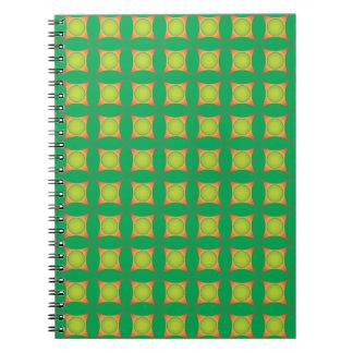 Green pattern photo notebook