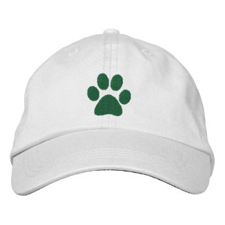 Green Paw Embroidered Hat