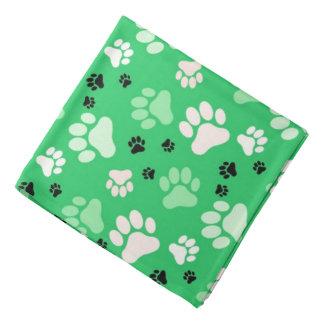 Green Paw Prints | Dog Do-rag