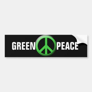 Green Peace Symbol Bumper Sticker