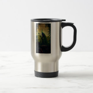 Green peafowl (Pavo muticus) Travel Mug