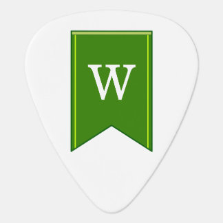 Green Pennant Banner With Personalized Initial Plectrum