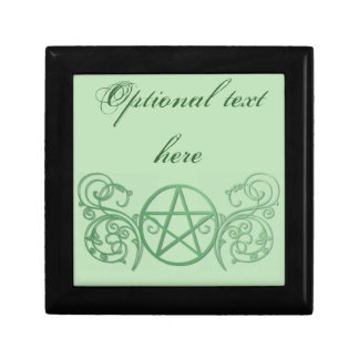 Green pentacle with flourishes gift box