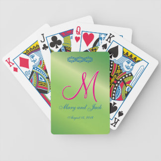 Green Pepper 3d Monogram Bicycle Playing Cards