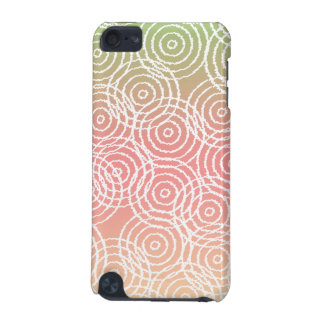 Green Pink Ikat Overlap Circles Geometric Pattern iPod Touch 5G Cover