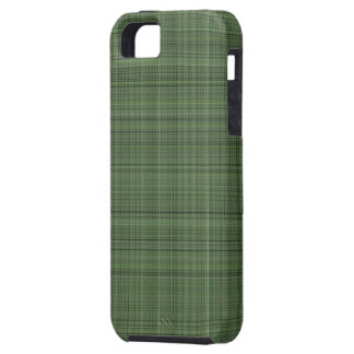 Green Pinstriped Fabric iPhone 5 Covers