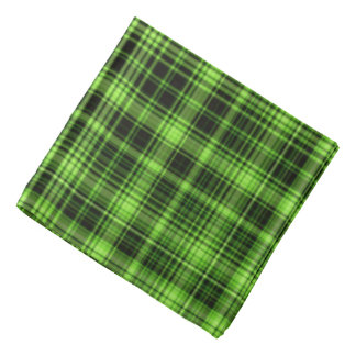 Green Plaid Bandanna