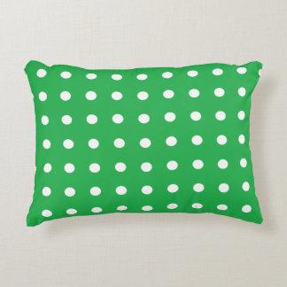 Green Polka Dot Decorative Cushion