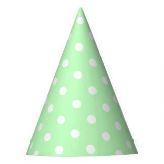 Green Polka Dot Party Hat