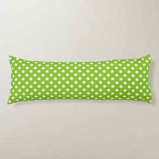Green Polka Dot Pattern Body Pillow