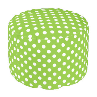 Green Polka Dot Pattern Pouf