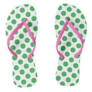Green Polka Dots Thongs