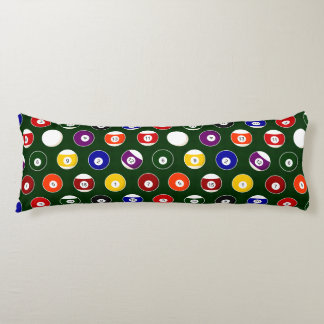 Green Pool Ball Billiards Pattern Body Cushion