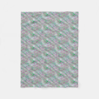 Green Purple Mermaid Pastel Pattern Fleece Blanket