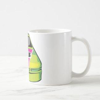 green race car coffee mug