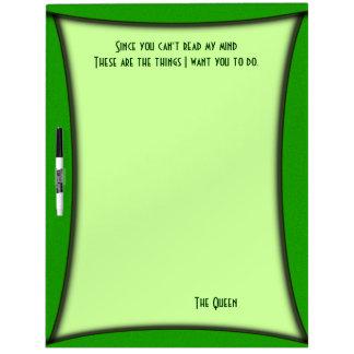 Green Read My Mind Board w Pen