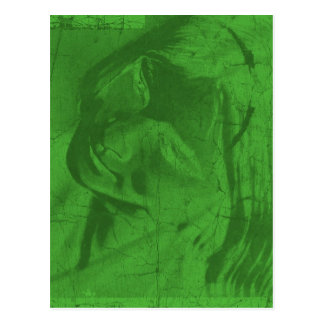 Green Reflections Postcard III Post Cards