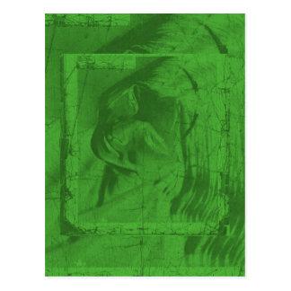 Green Reflections Postcard IV Postcards