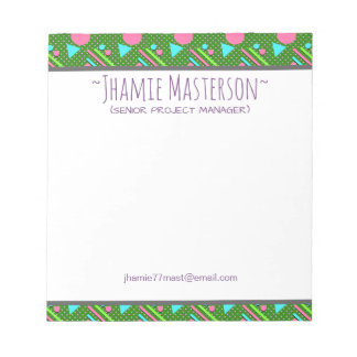 Green Retro Pizzazz Notepads