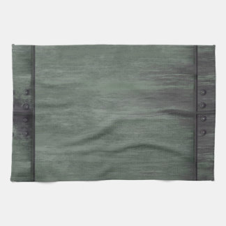 Green riveted steel texture towel