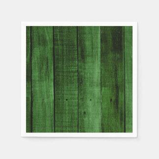 Green Rustic Wood Disposable Napkin