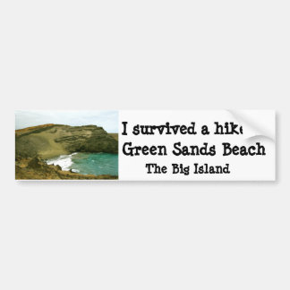 Green Sands Beach Hawaii Bumper Sticker