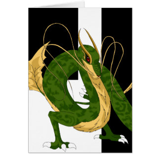 Green Sea Dragon Greeting Card