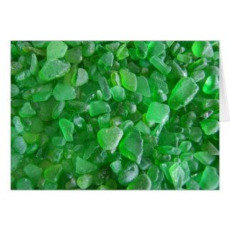 Green Sea Glass Greeting Card