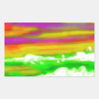 green sea rectangular sticker