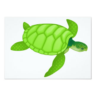 Green Sea Turtle Invitations