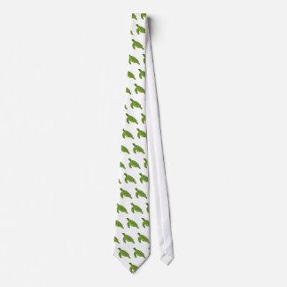 Green sea turtle love tie