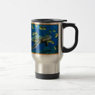 Green Sea Turtle Stainless Steel Travel Mug