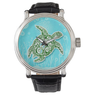 Green Sea Turtle Underwater Watch