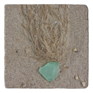 Green Seaglass Trivet