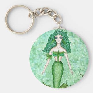 Green Seaweed Mermaid - Keychain