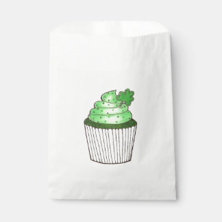 Green Shamrock Clover Cupcake St. Patrick's Day Favour Bags