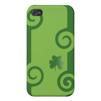 Green Shamrock Cover For iPhone 4