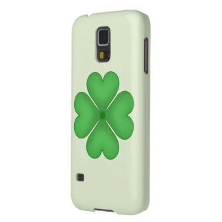 Green Shamrock Four leaf Clover Hearts Galaxy S5 Cover