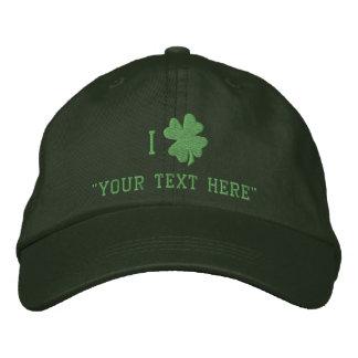 Green Shamrock Hat, Custom Personalized Baseball Cap