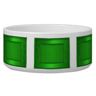 Green Shimmer Rectangles Bowl
