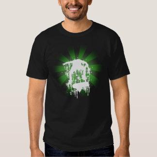 Green Skateboarding shirt Dark