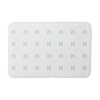 Green small clover pattern medium bath mat