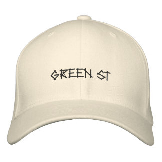 GREEN ST EMBROIDERED BASEBALL CAP