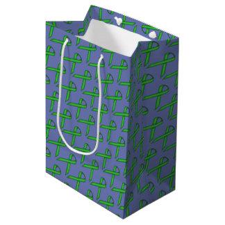 Green Standard Ribbon Medium Gift Bag